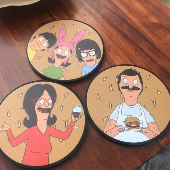 Set Of 3 Coasters Bob/'s Burgers Coaster Set LootCrate NEW